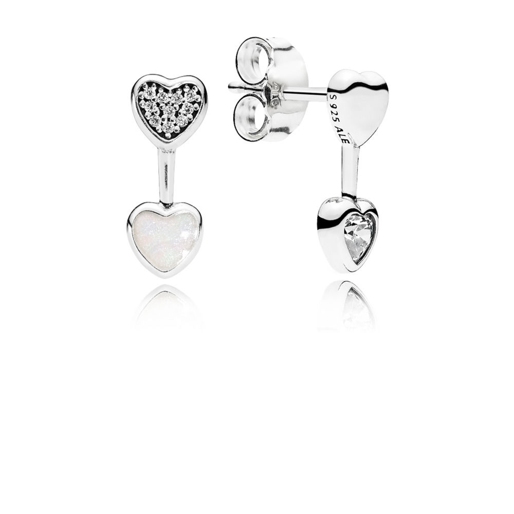 Pandora Bijoux Love Heart Earrings