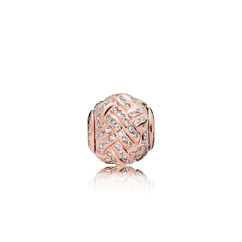 Pandora Bijoux Vente directe à l'usine de AFFECTION Charm, PANDORA Rose ™ et Clear CZ