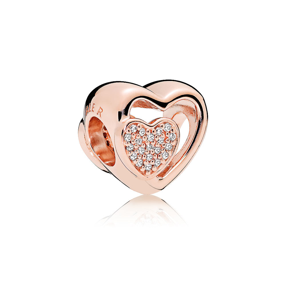 Pandora Bijoux Vente directe d'usine de Together Together Chand, PANDORA Rose ™ & Clear CZ