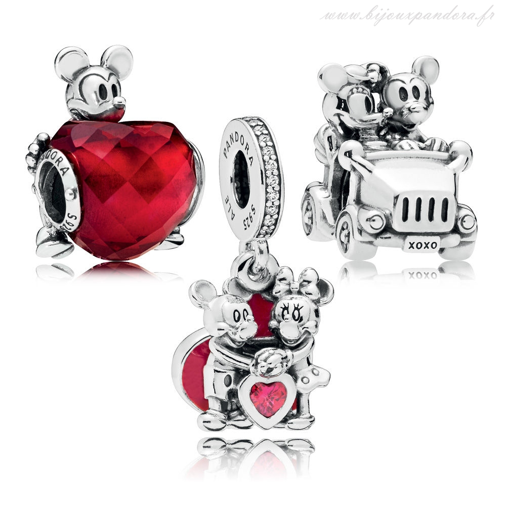 Pandora Bijoux DISNEY MICKEY ET MINNIE AMOUR CHARM PACK