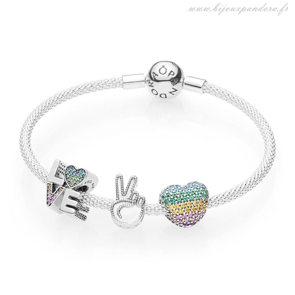 Pandora Bijoux Amour the Rainbow Bracelet Set