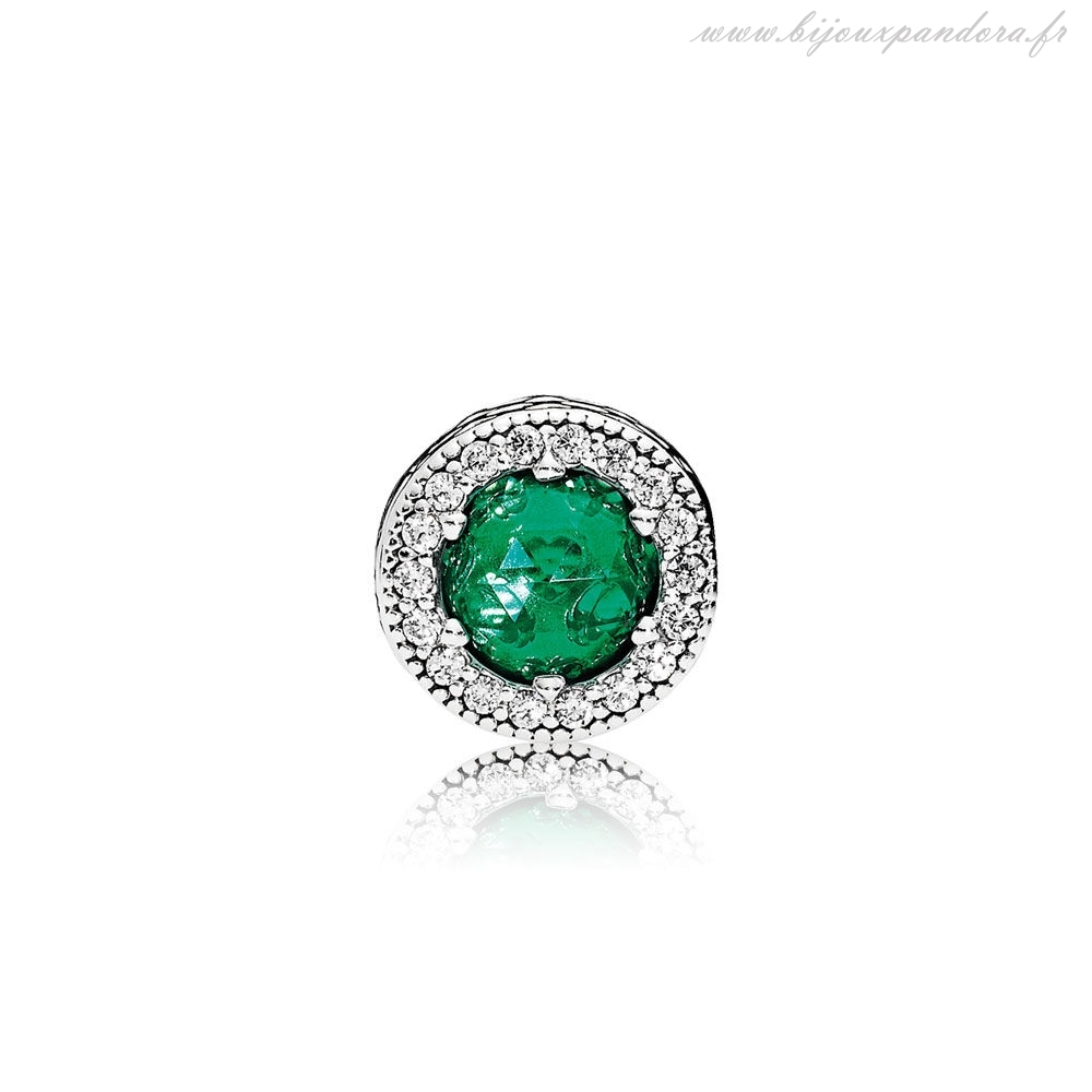 Pandora Bijoux Charm Optimism Cristaux Verts Royaux Clear CZ