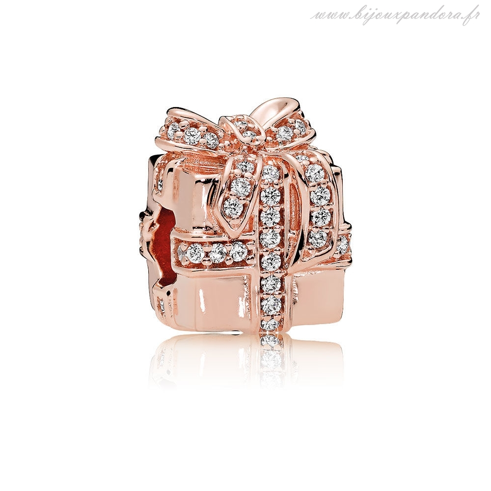 Pandora Bijoux Charm Petillant Surprise Rose Clear CZ