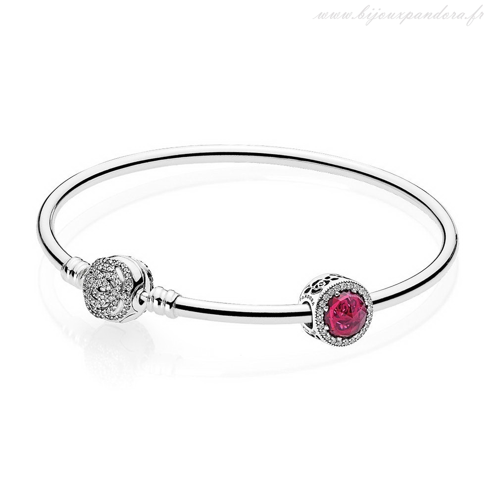 Pandora Bijoux Disney Belle's Radiant Rose Bangle Ensemble