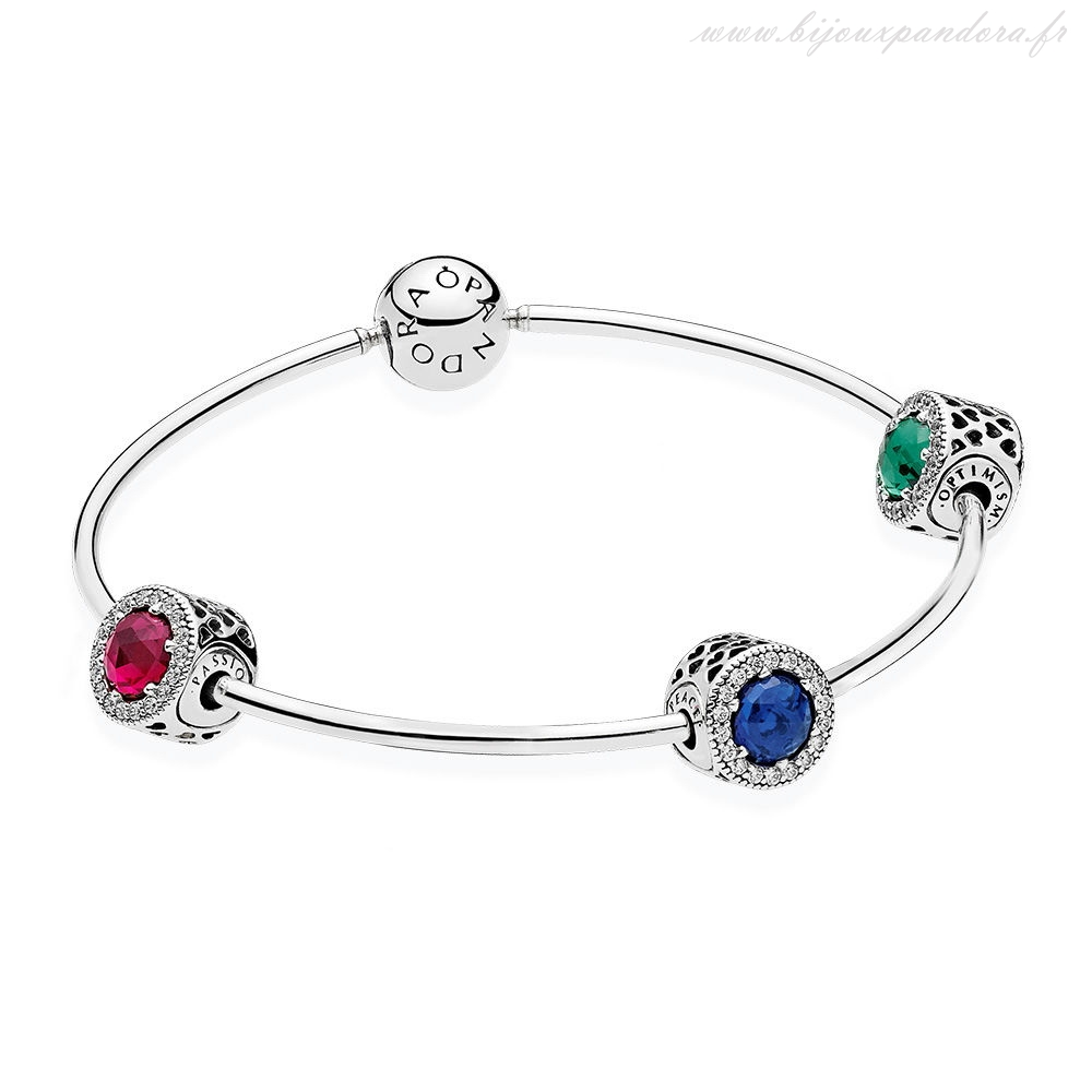 Pandora Bijoux Essence Peace Optimism Passion Cadeau Ensemble