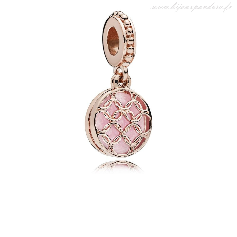 Pandora Bijoux PANDORA Rose Patterns de Amour Pendaison Charm