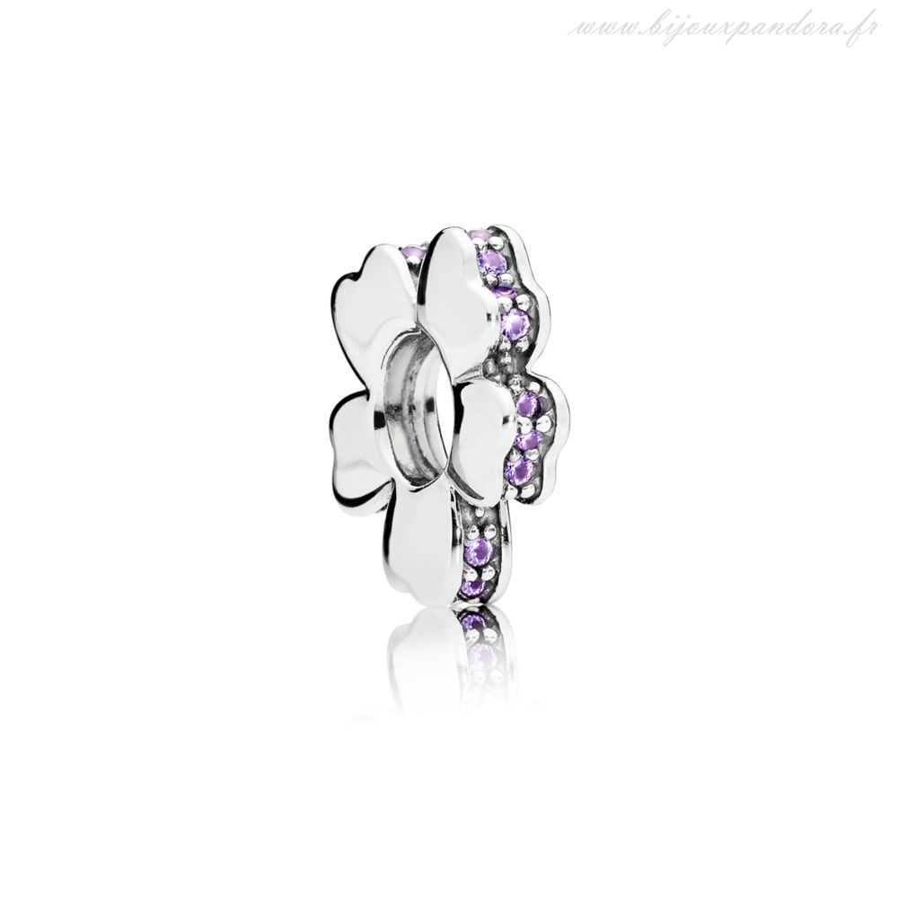 Pandora Bijoux PURPLE WILDFLOWER PRAIRIE SPACER CHARME
