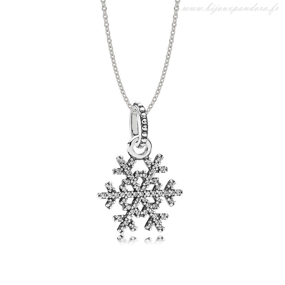 Pandora Bijoux Petillant Flocon de neige Collier Ensemble