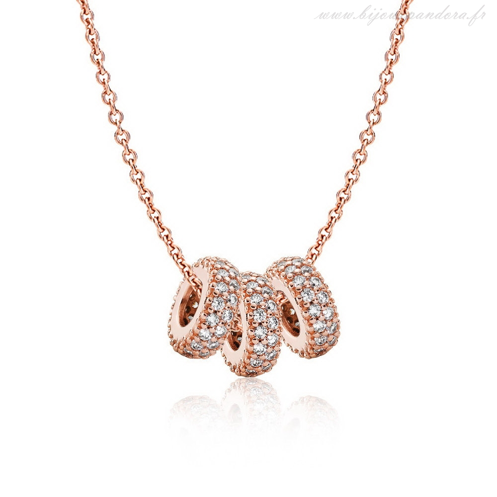 Pandora Bijoux Rose Pave Spacer Collier