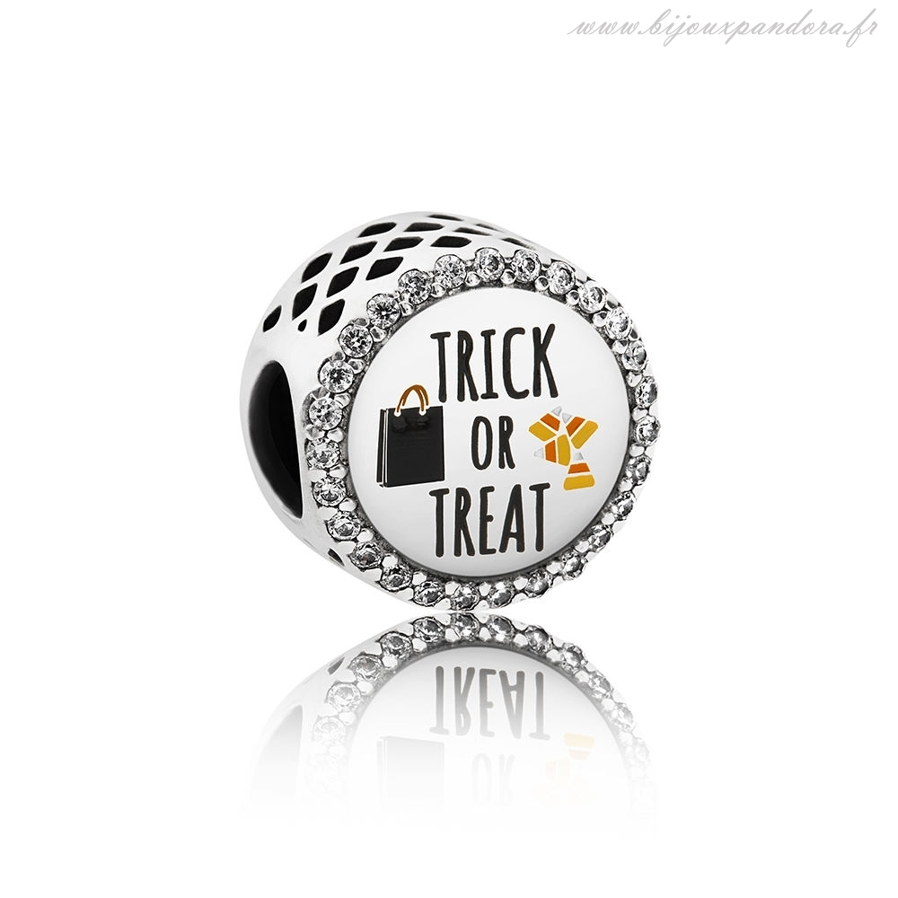Pandora Bijoux Tour ou Treat Charm Mixte Email Clear CZ Marques
