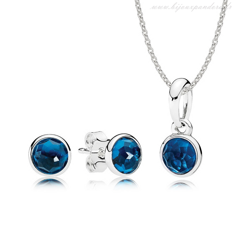 Pandora Bijoux decembre Droplets Cadeau Ensemble