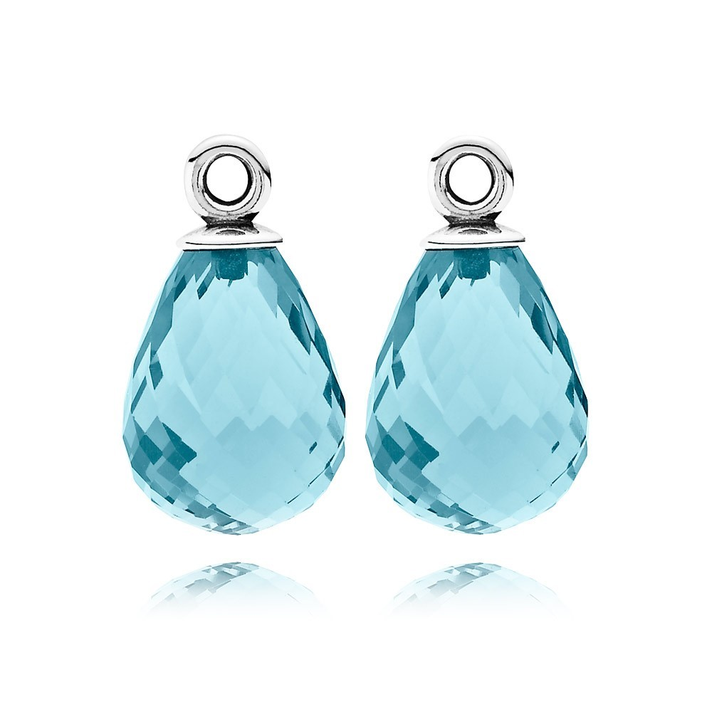 Pandora Bijoux Boucles d'oreilles Ice Blue Murano Glass