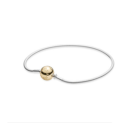 Pandora Bijoux ESSENCE bracelet COLLECTION argent avec 14k fermoir