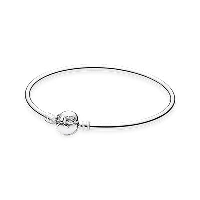Pandora Bijoux Moments Dainty SilverBow Bangle