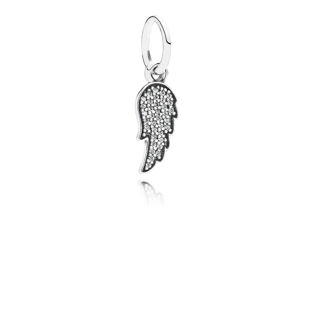 Pandora Bijoux Ange Silver Wing Dangle Avec zircon