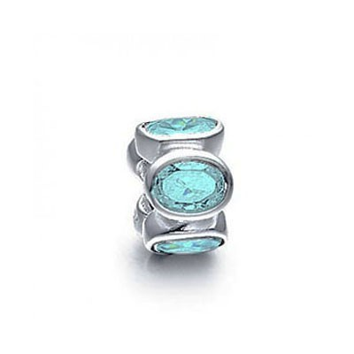 Pandora Bijoux Blue Water Gems Briller Charm Thread Perles