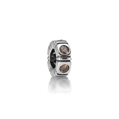 Pandora Bijoux Brown Spacer Trinity
