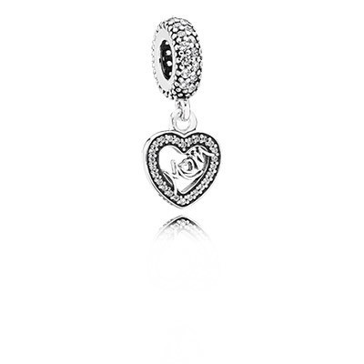 Pandora Bijoux Centre of My Heart avec Clear CZ Dangle