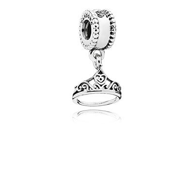 Pandora Bijoux Charm Disney Belle Tiara Argent Dangle