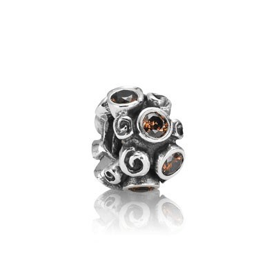 Pandora Bijoux Charm Path Brown Primrose