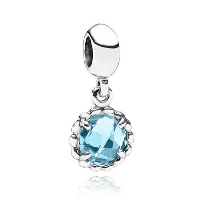Pandora Bijoux Cool Breeze avec Blue Topaz Dangle