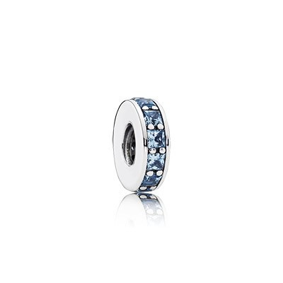 Pandora Bijoux Eternity avec Sky Blue Crystal Spacer