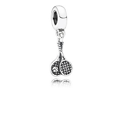 Pandora Bijoux Jeu, Set, Match Tennis Dangle