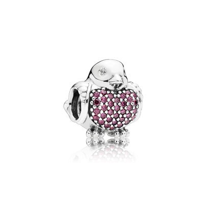 Pandora Bijoux Red Robin avec Red and Clear CZ Charm