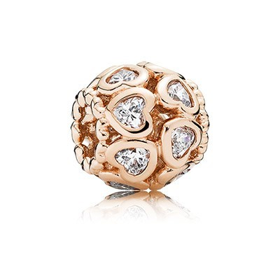 Pandora Bijoux Rose Love All Around avec Clear CZ Charm
