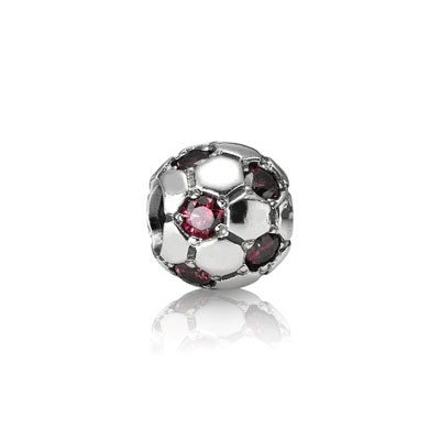 Pandora Bijoux Ruby Charm Football