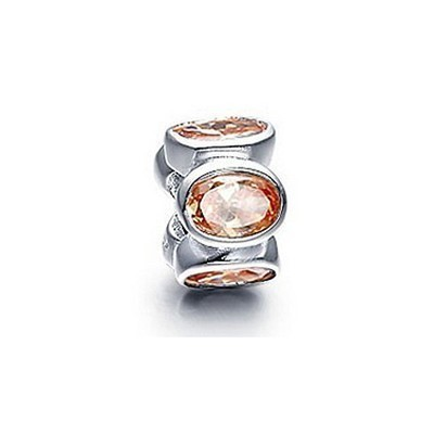 Pandora Bijoux orange Gems Briller Charm Thread Perles