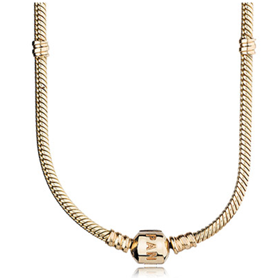 Pandora Bijoux collier en or, P lock