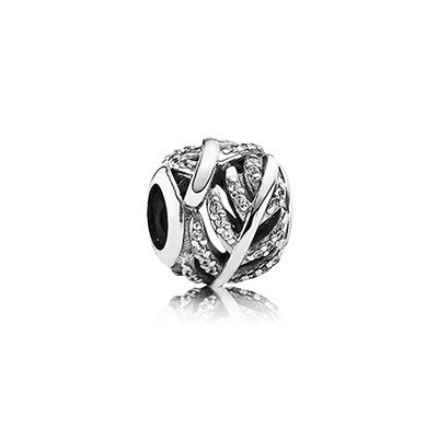 Pandora Bijoux EFFACER CZ Light As A Feather Silver Charm