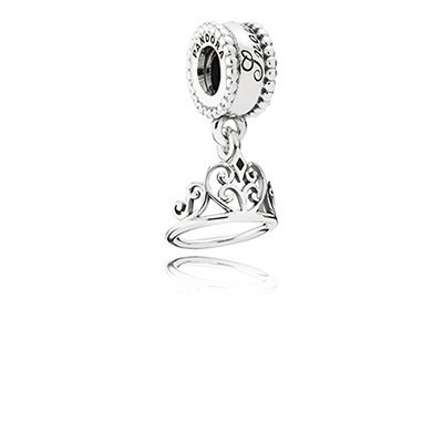 Pandora Bijoux Silver Charm Disney Blanche Neige Tiara Dangle