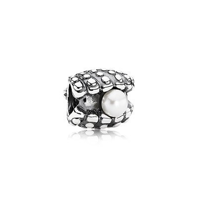 Pandora Bijoux White Pearl One Of A Kind Silver Charm